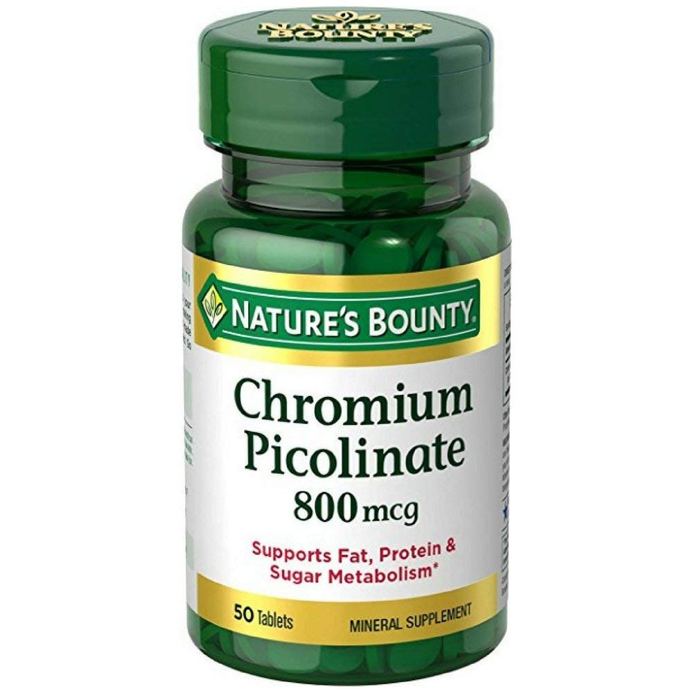 Nature's Bounty Mega Chromium Picolinate 800 mcg tablets 50 ea (Pack of 12) by Nature's Bounty