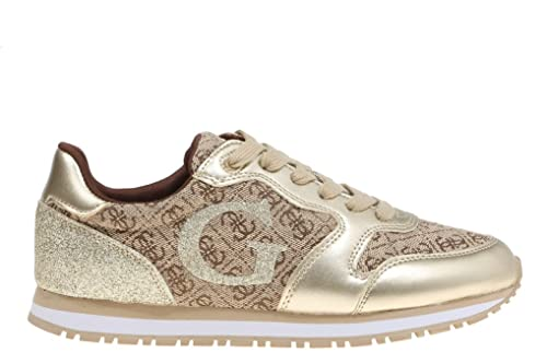 GUESS Zapatillas JOHNNY2 Oro FLJHN1 FAL12: Amazon.es: Zapatos y complementos