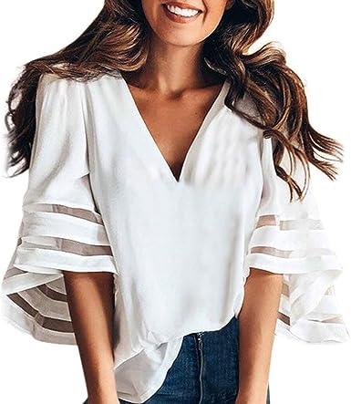 Adelina Blusas Básicas De Verano Blusas De Manga Larga Para Mujer Blusas Moda Completi Con Cuello