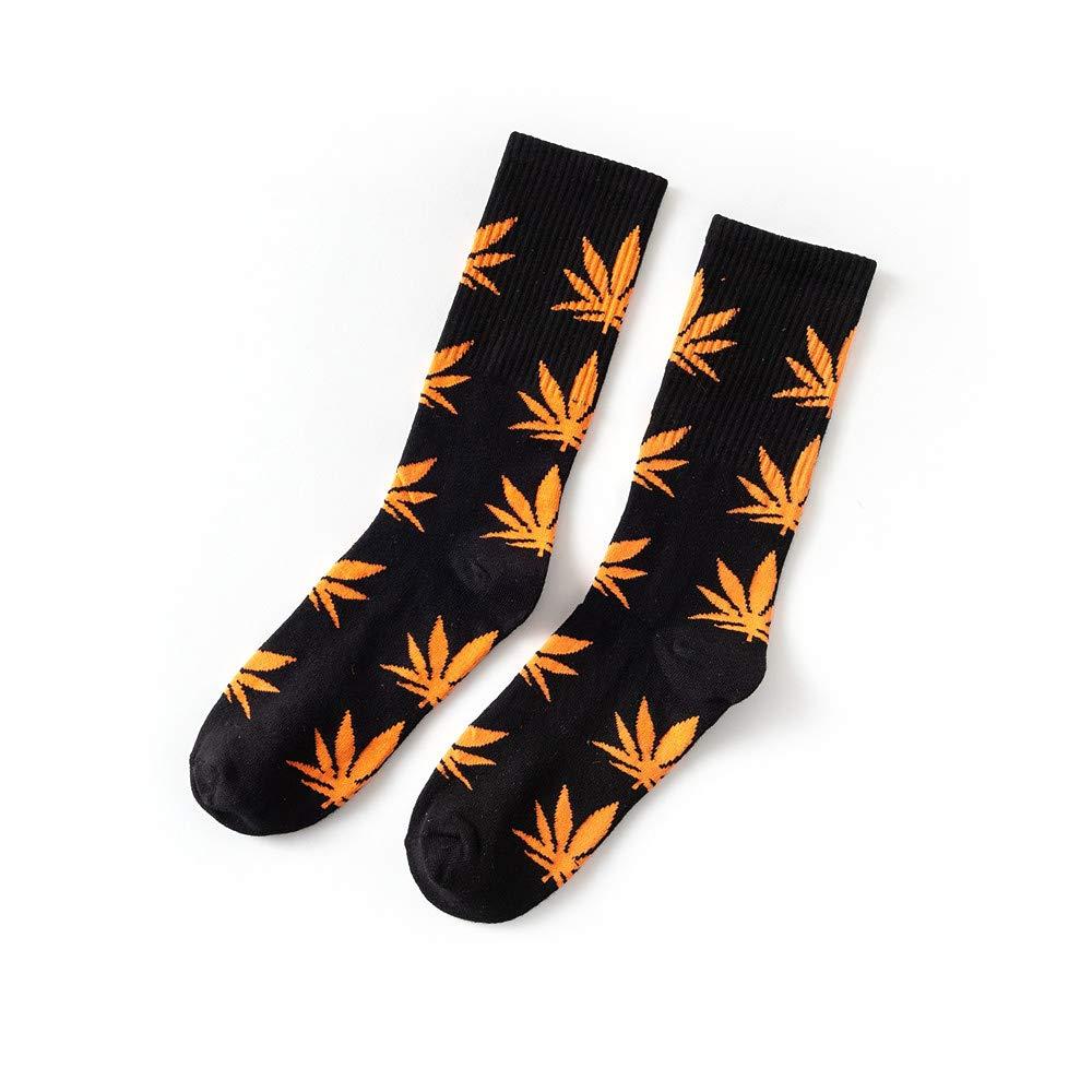 Chaussettes en Coton imprim/ées /à la Feuille de Marijuana et /à la Marijuana YMCHE Chaussettes Unisexes /à Fleurs