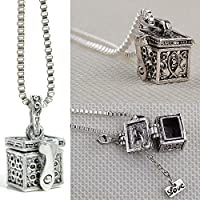 Fashion Retro Metal Urn Cremation Pendant Necklace Ash Holder Mini Keepsake