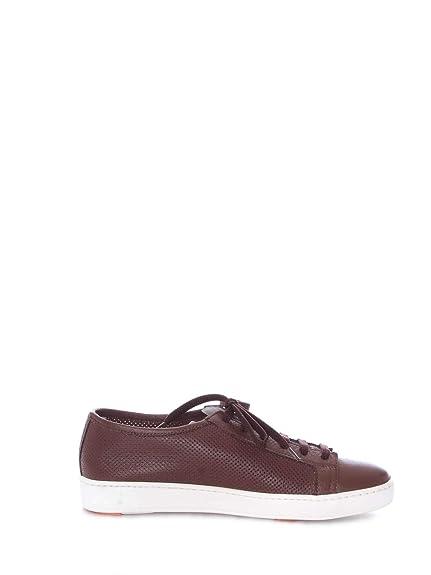 SANTONI Sneakers Uomo MBCN20440BA6CMIFS40 Pelle Marrone  Amazon.it  Scarpe  e borse a8448bdd554