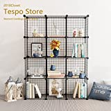 Tespo Metal Wire Storage Cubes Modular Shelving Grids DIY Closet
