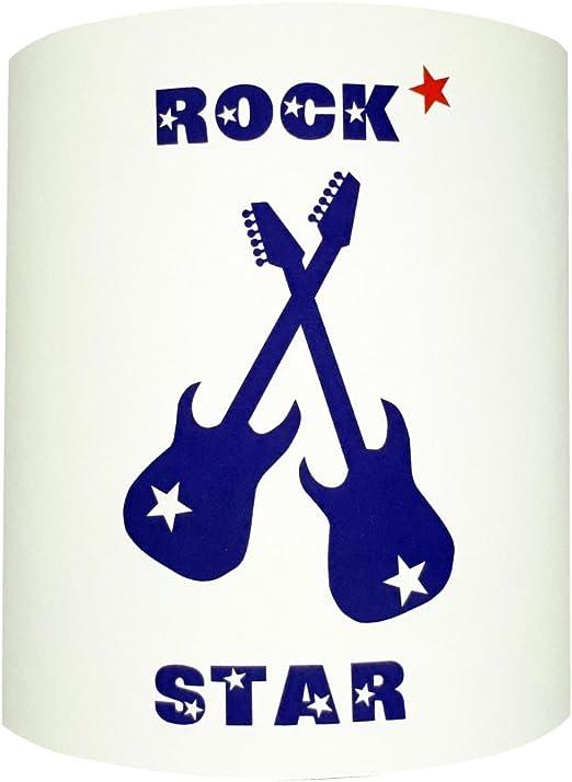 Lilipouce Aplica Guitarras Rock Star Azul, cartón, Rojo, 30 cm: Amazon.es: Hogar