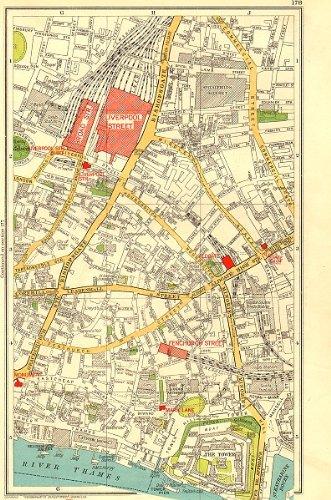 Amazon Com London City Tower Liverpool Street Bishopsgate 1937