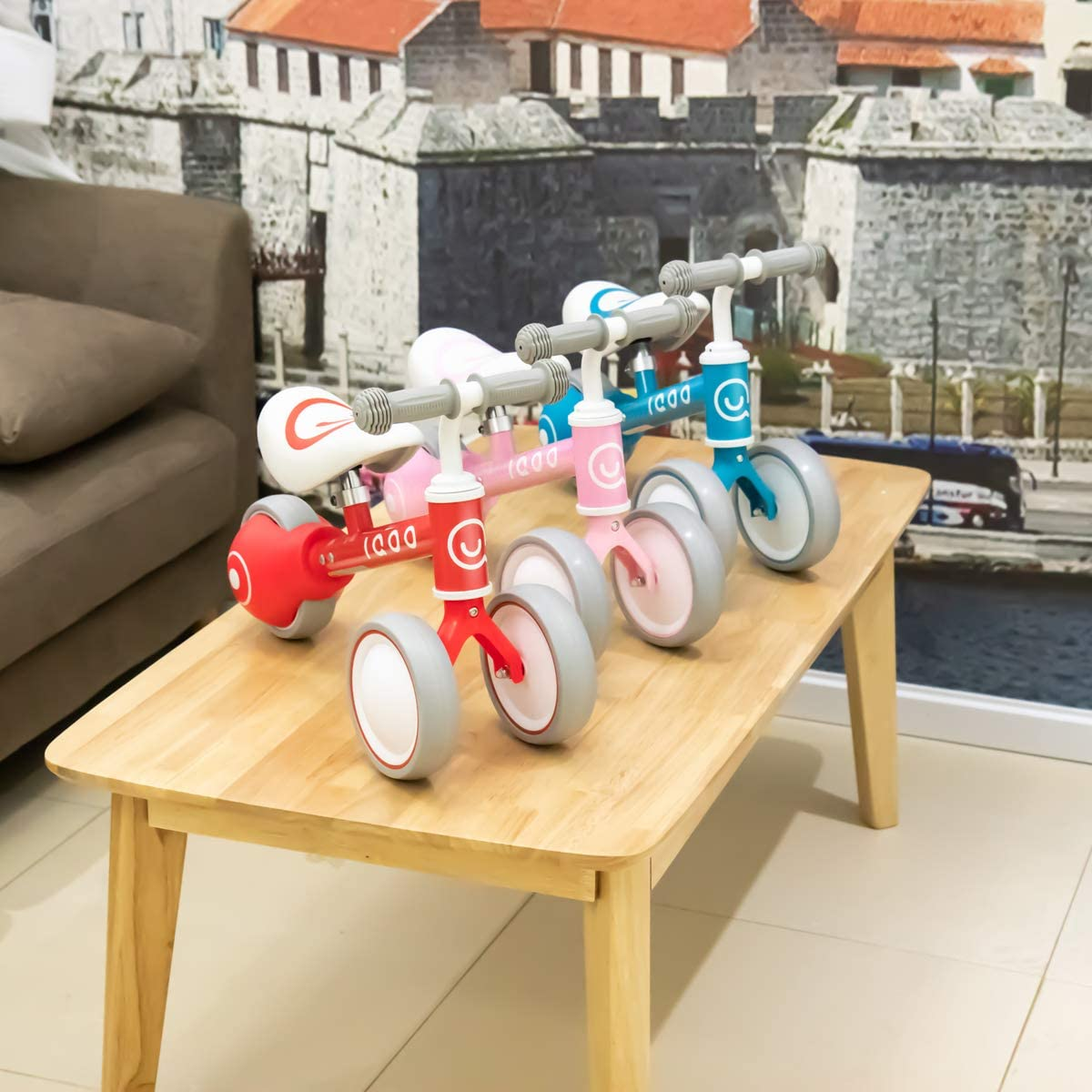 Bicicleta Infantil para ni/ños y ni/ñas Color Rojo 1 2 o 3 a/ños HILAND IQOO