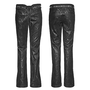 1b54d92b1e Punk Men's Gothic Bell-Bottoms Fashion Steampunk Drawstring Trousers Male  Cotton Pants Black: Amazon.co.uk: Clothing