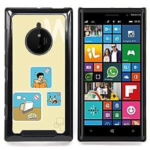 - Toaster Bread Cooking Danger Art/ Duro Snap en el tel????fono celular de la cubierta - Cao - For Nokia Lumia 830