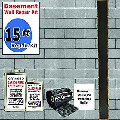 15 ft-Carbon Fiber-Basement Wall Crack Repair Kit