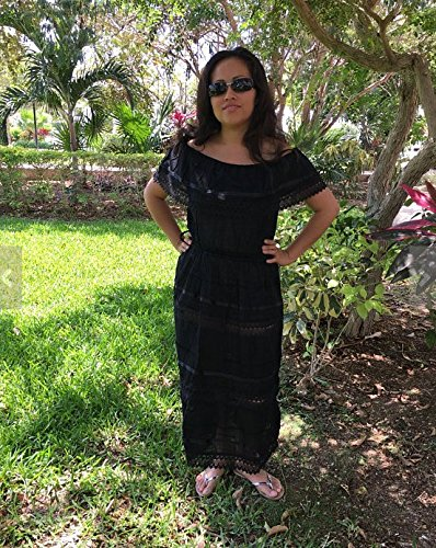 127f2f8e58f0 Amazon.com: Campesino black mexican dress for 15-18 years old woman:  Handmade