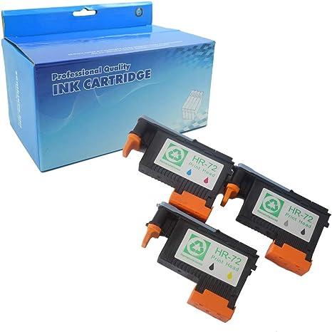 Ouguan 3 Cabezales de impresión HP 72 C9380A C9383A C9384A ...