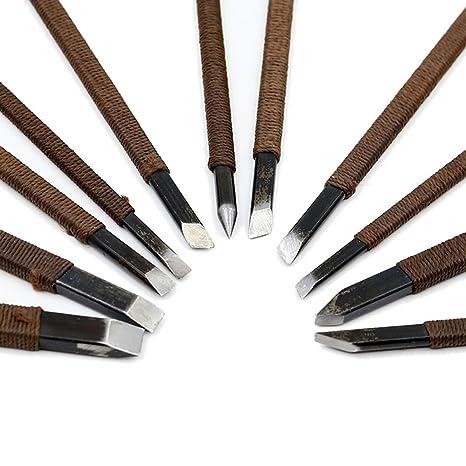Amazon.com: CSLU - Juego de 11 cinceles y cuchillos para ...