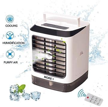 Mini enfriador de aire portátil personal, humidificador, pequeño ...