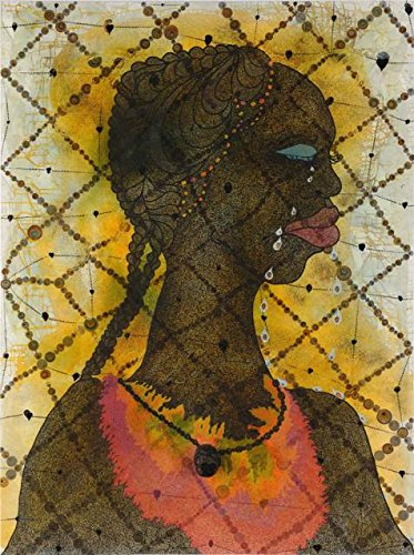 Oil Painting 'Chris Ofili - No Woman, No Cry,1998' Printing On Perfect Effect Canvas , 20x27 Inch / 51x68 Cm ,the Best Garage Gallery Art And Home Decor And Gifts Is This Beautiful Art Decorative Prints On Canvas