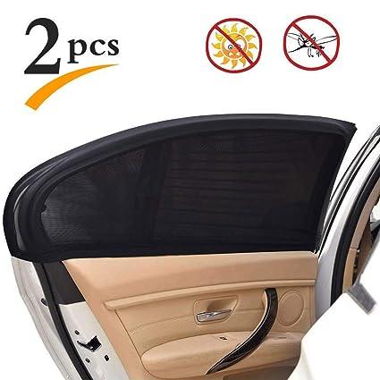 9dd632a3fd7f Amazon.com: Uarter Medium Medium Universal Rear Side Window Baby Kid Pet  Breathable Sun Shade Mesh Backseat (2 Pcs) Fits Most Small and Medium Cars:  ...