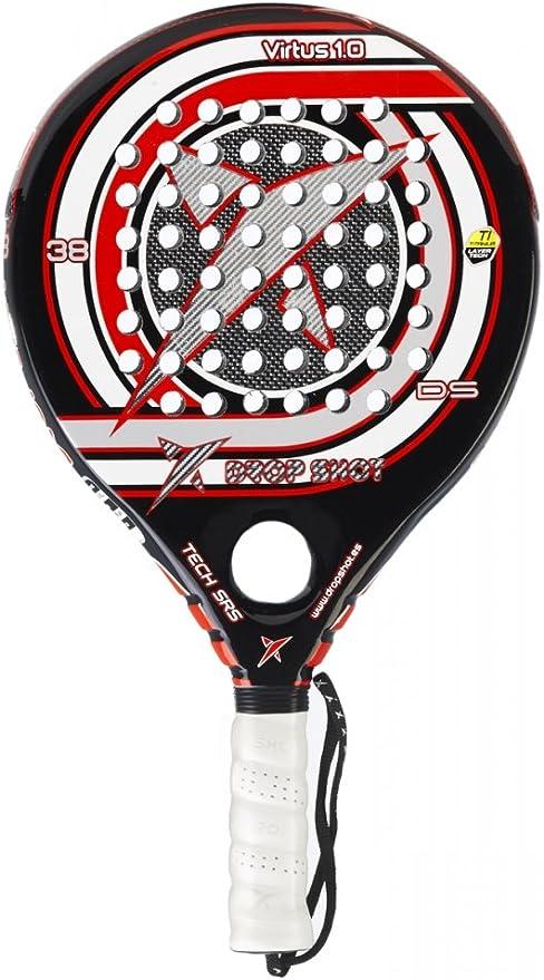 Drop Shot Virtus 1 0 Unisex Padel Tennis Racquet Red Black Grey Amazon Co Uk Sports Outdoors