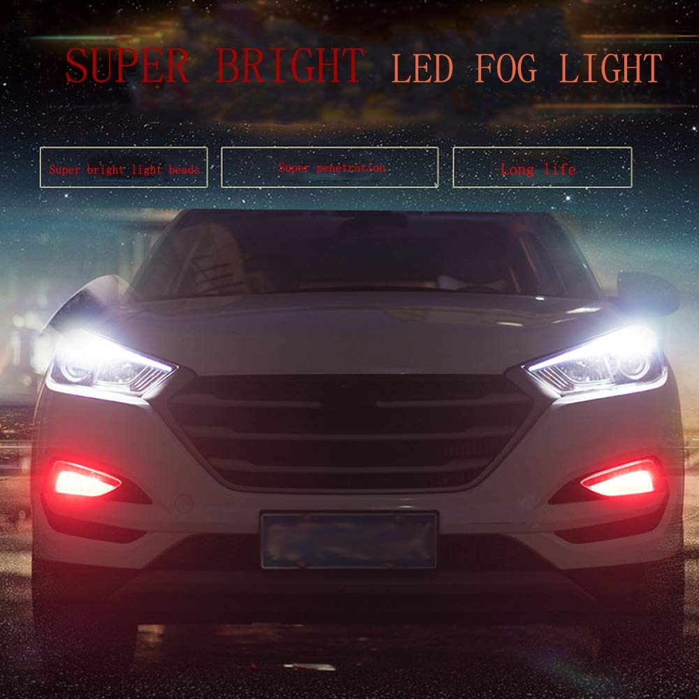 Amazon.com : QDJIEN 2Pcs Bombillas De Luz Antiniebla Led H8 Car Universal Super Bright Front Fog Light Bulb, 6 Colors Available, 2 Pcs : Sports & Outdoors