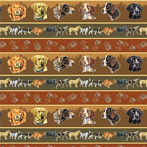 (Graphics and More Hunting Dog Breeds Paw Prints Premium Roll Gift Wrap Wrapping Paper )