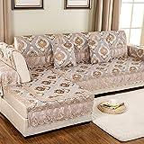 GDJVXCFV European Style Sofa Pad/Fabric Seat Cushion/Four Seasons Common Sofa Towel/Anti-skidding,Living Room,Wood Sofa Towel-B 110x160cm(43x63inch)