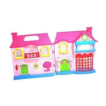 Amazon.es: Juguete Casas de Muñecas en Minitura Modelo de Construcción Plástico 2 Muchachas Bonitas Caseta de Perro: Juguetes y juegos