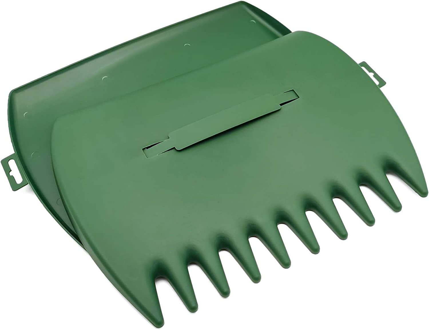 Nonemey Leaf Scoops Garden and Yard Hand Rakes Leaf Claws with Adjustable Handles for Leaves, Lawn and Trash Pick-Up,Gardenised Pair of Leaf Scoops, Hand Rakes for Lawn and Garden Cleanup (Green)