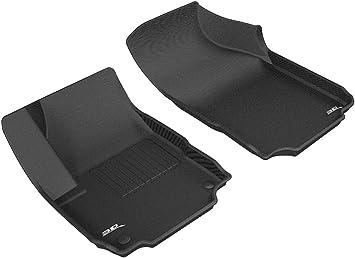3D MAXpider Custom Fit Kagu Black 1st//2nd Row Floor Liners for GMC Terrain
