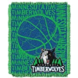 The Northwest Company Officially Licensed NBA Minnesota Timberwolves 48'' x 60'' Double Play Jacquard Triple Woven Throw Blanket