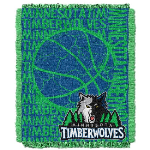 The Northwest Company Officially Licensed NBA Minnesota Timberwolves 48'' x 60'' Double Play Jacquard Triple Woven Throw Blanket by The Northwest Company