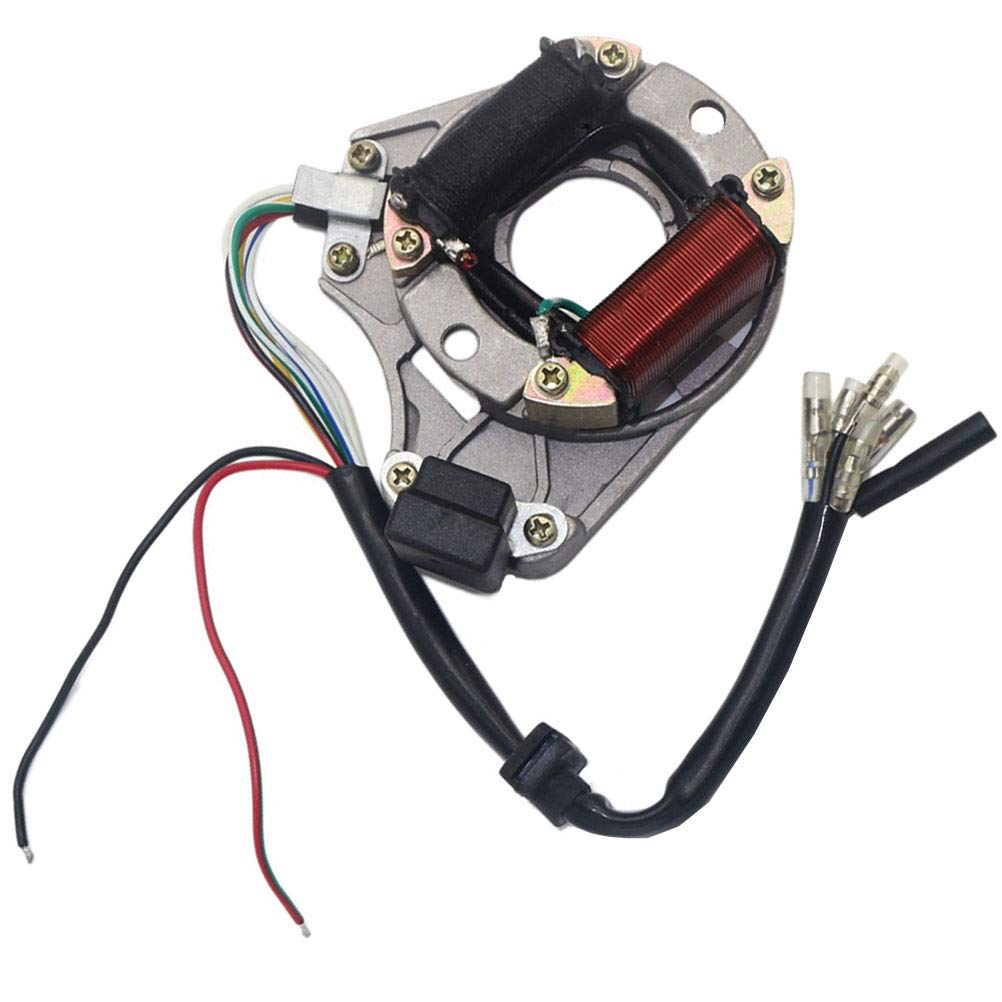 Complete Electrics Stator Coil CDI Wiring Harness Solenoid Relay Spark Plug for 4 Stroke ATV 50cc 70cc 110cc 125cc Pit Quad Dirt Bike Go Kart by TOPEMAI