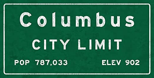 Amazon.com: Homebody Accents Columbus City Limit Metal Sign, Ohio ...