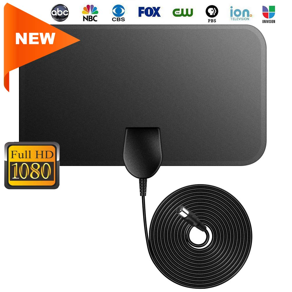 【2019 Latest】Indoor TV Antenna-Digital HDTV Television Antenna 50 Mile Range 4K 1080P HD VHF UHF Freeview Local Channels and Programming for All Type of Television,No Amplifer
