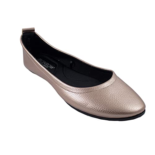 a5e010d39 Monrow Textured Rose Gold PU Women and Girls Ballerina  Buy Online at Low  Prices in India - Amazon.in