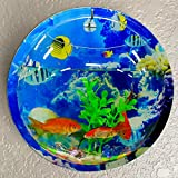 Coxeer Wall Fish Tank, 9in Sea World Acrylic Wall Hanging Fish Bowl for Home and Office