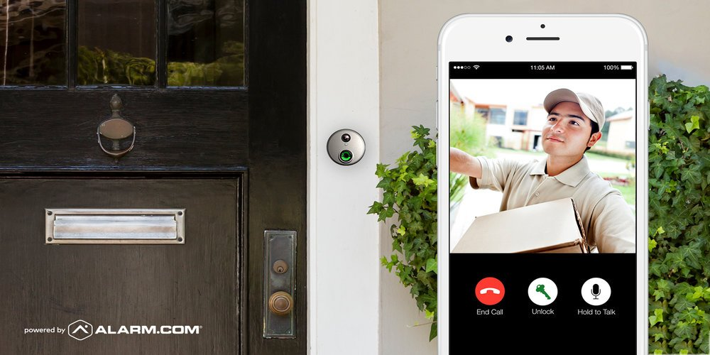 Skybell HD WiFi Doorbell Camera Alarm.com 1080p Color Night Vision Bronze by SkyBell