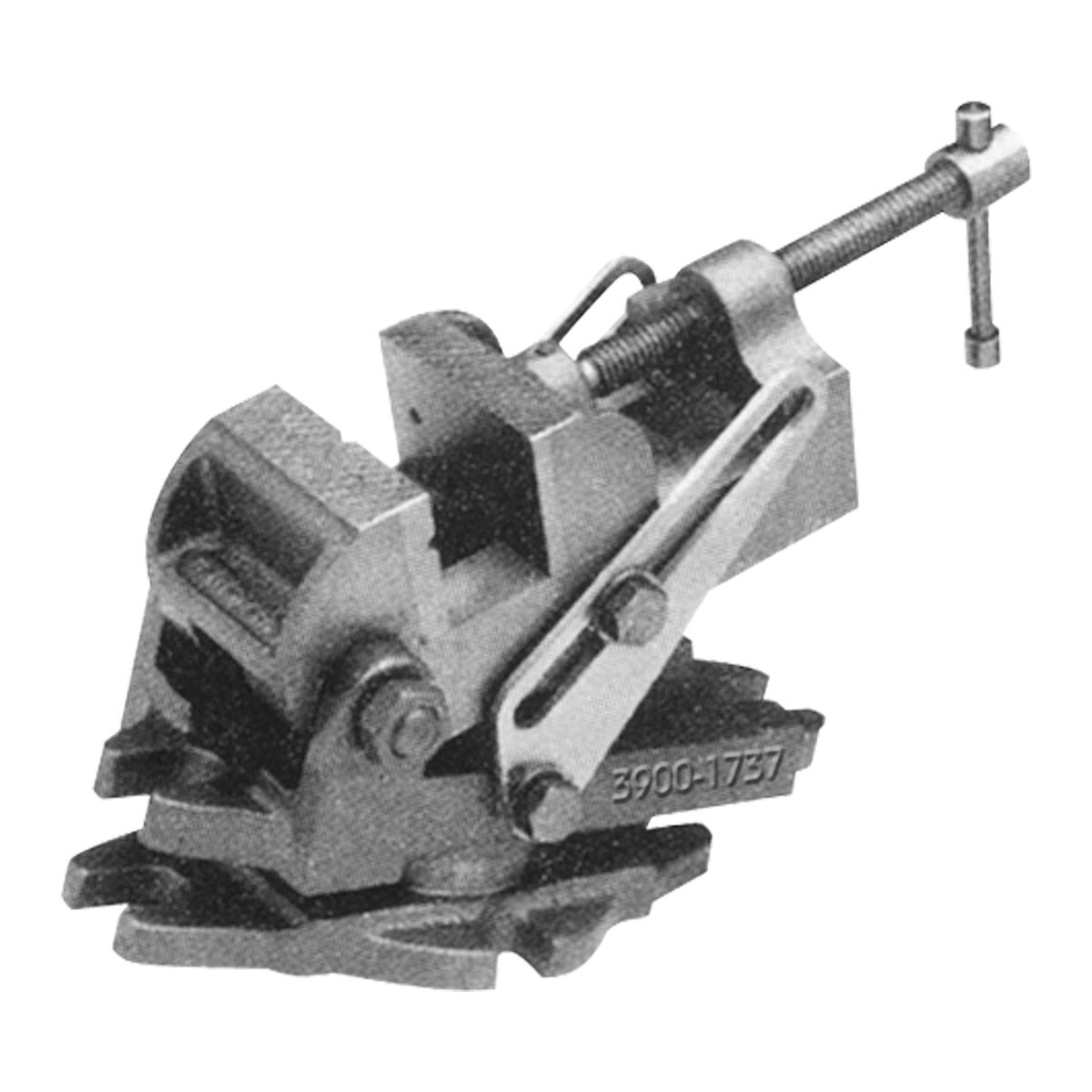 HHIP 3900-1737 Angle Drill Press Vise with Swivel Base, 4-1/2''