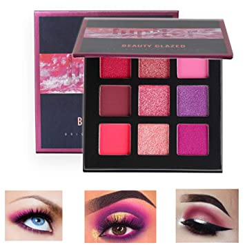 Beauty Essentials 2018 New Eyeshadow Palette Makeup Cosmetics Diamond Glitter Metallic 9 Color Nude Creamy Pigmented Professional Mini Shadow Kit