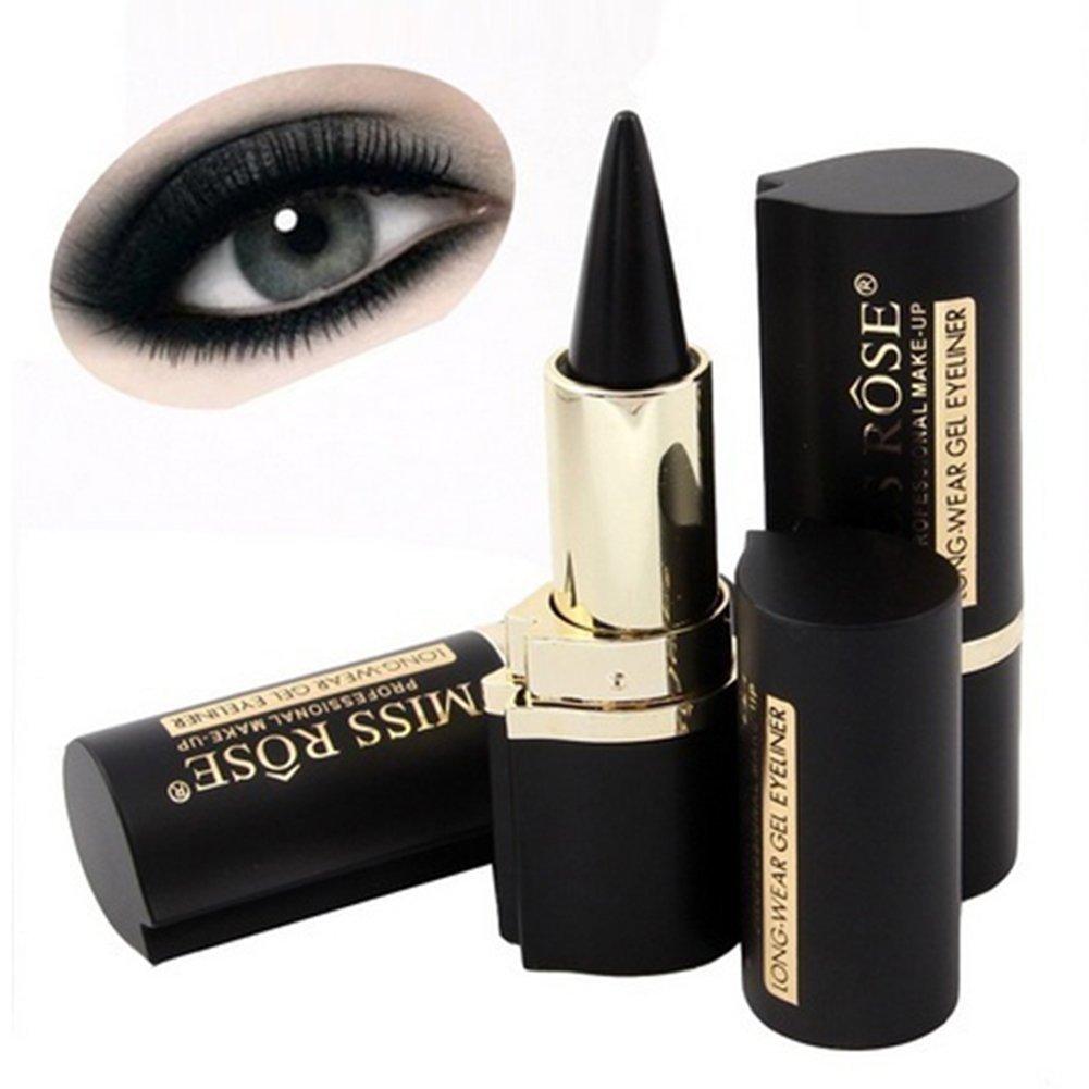 Impermeable Ojo Liners, lápiz de ojos Negro de maquillaje delineador de ojos delineador de ojos larga duración constituyen herramienta Woopower