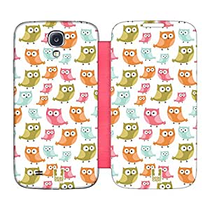 Head Case Designs Curious Little Owls Kawaii Flip Case Replacement Battery Back Cover Samsung Galaxy S4 I9500
