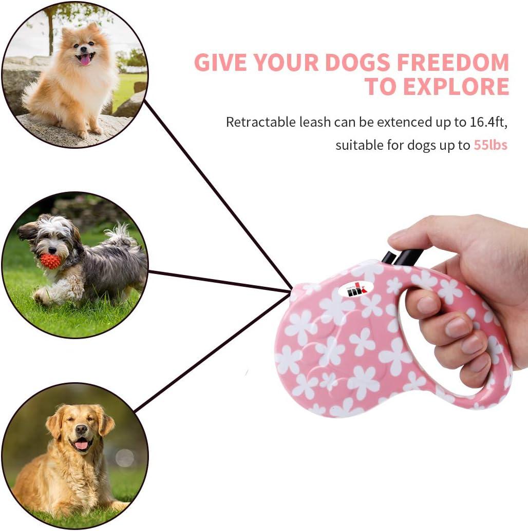 Makife Einziehbare Hundeleine Automatikleine Reflect Seil Gurt 5m f/ür Kleine Mittlere Gro/ße Hunde