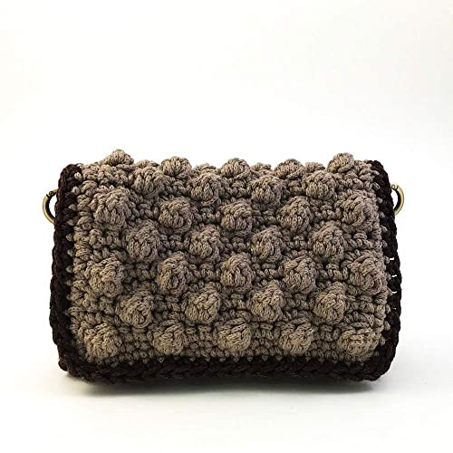 a9af9ad09 Amazon.com: Women Handmade Crochet Shoulder Bag Boho Crossbody Bag Flap Bag  with Chain Strap: Handmade