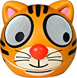 Zoo Tunes Compact Portable Bluetooth Stereo Speakers for MP3 Players, Tablets, Laptops etc. Tiger