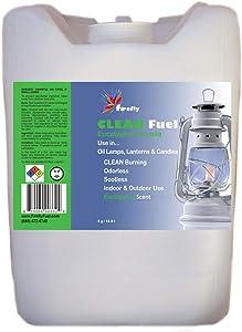 Firefly Kosher Eucalyptus Scented Clean Fuel Bulk Lamp Oil – Bulk 5 Gallons – Smokeless/Virtually Odorless – Longer Burning