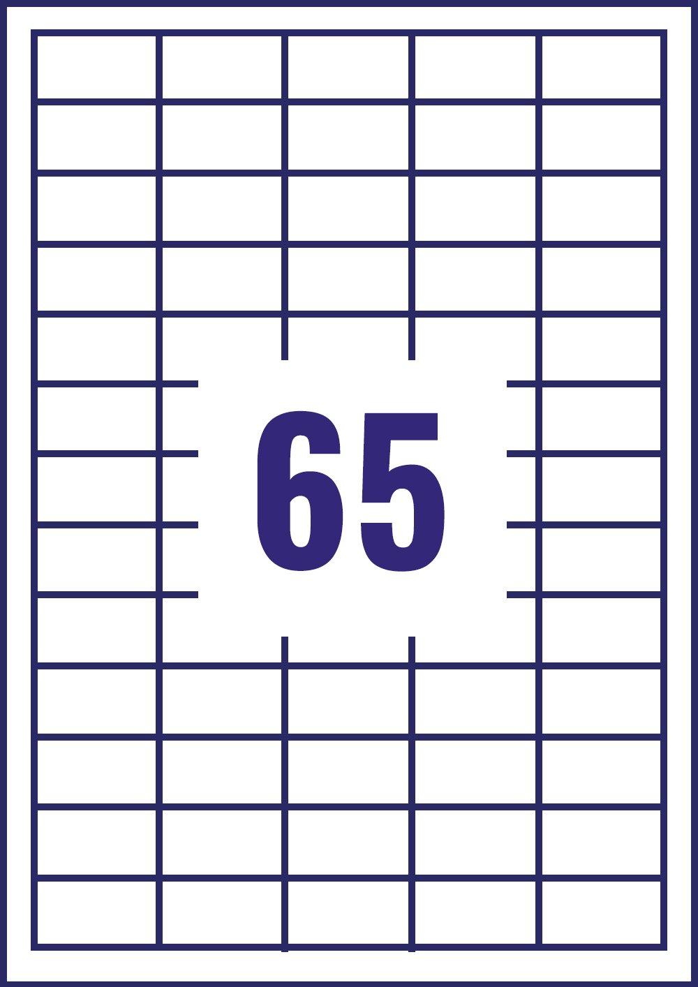 Import Royaume Uni 40 feuilles Avery /Étiquettes multi-usages 65 /étiquettes par feuille
