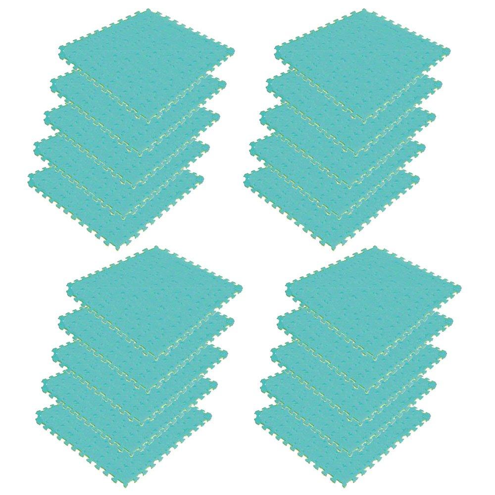 ボディメーカー(BODYMAKER) リバーシブルジョイントマット2.0 100×100×2cm イエロー×グリーン 20枚 B01DLNMWHG