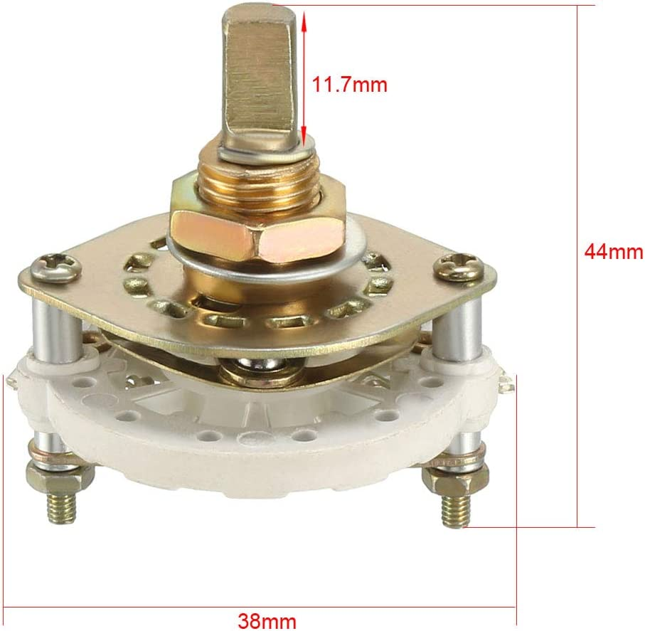 uxcell/® 1P5T 1 Pole 5 Position 1 Deck Band Channel Rotary Switch Selector with Knob