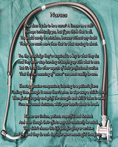 Nurses - Poem Print (8x10) - Wonderful nurse gift