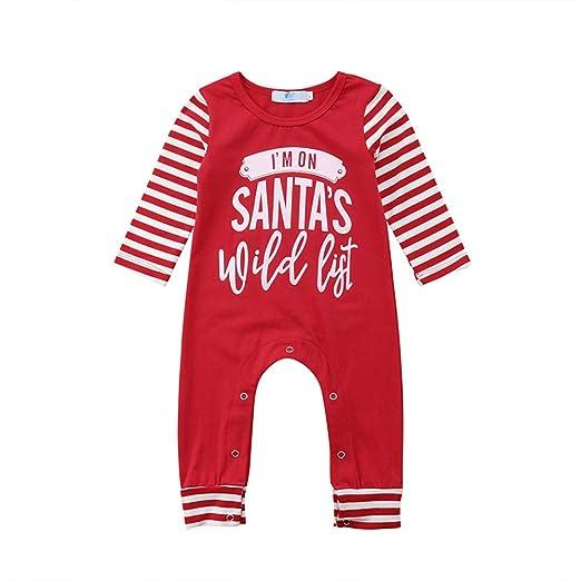 8a1f9b701647 Amazon.com  Du.Anyozu Newborn Baby Christmas Santa s Romper Pajamas ...