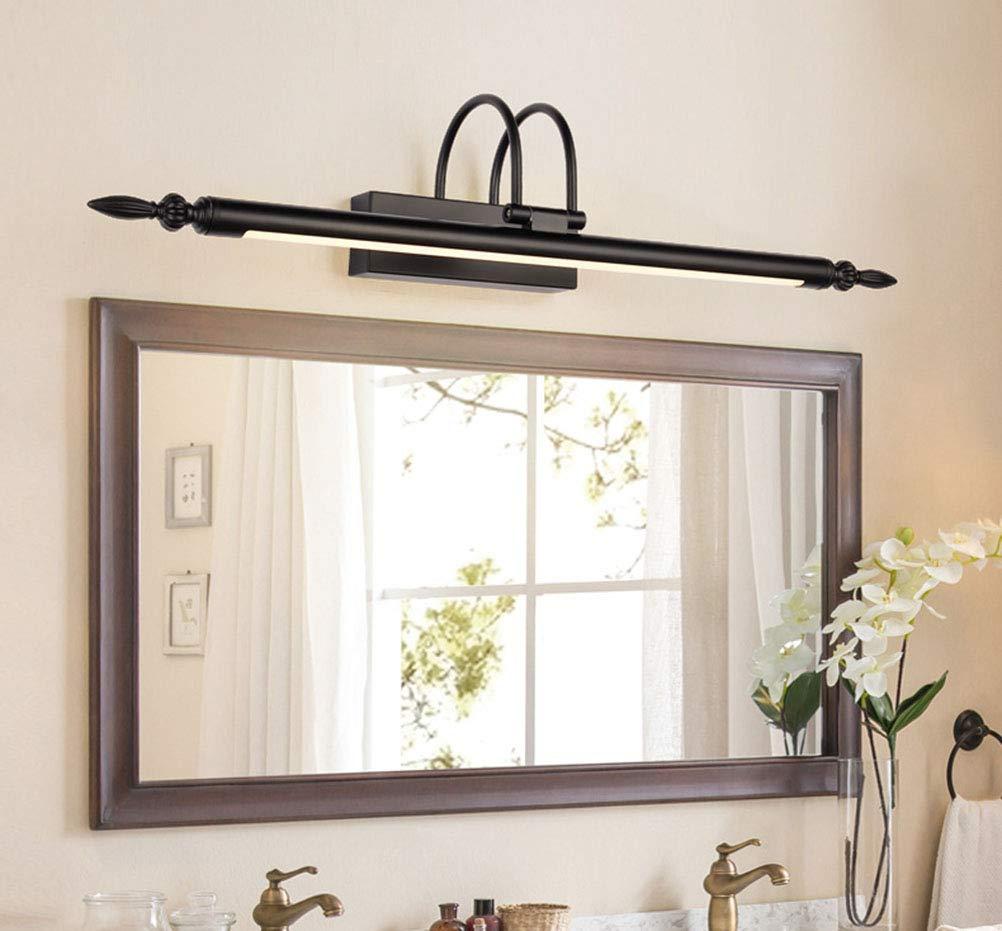 HARDY-YI Spiegel-Scheinwerfer-Badezimmer Spiegel-Scheinwerfer-Badezimmer Spiegel-Scheinwerfer-Badezimmer führte amerikanische Spiegel-Licht-Badezimmer-Spiegel-Scheinwerfer-einfache Make-uplichter (Farbe   12W66CM, Größe   weißes Licht) 4feaca