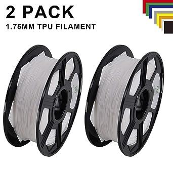 Yoyi - Filamento de TPU flexible de 1,75 mm, 2 rollos de filamento ...