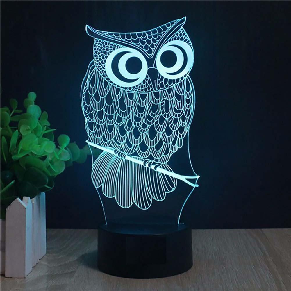 馬/ Owl Night Light and交換可能プレート YKLLGT452 B01MRN55VE 11316 Owl-1 (Package) Owl1 (Package)